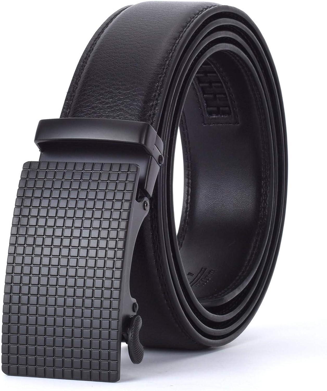 Men Automatic Buckle Leather luxury Belt Business Male Alloy buckle Belts for Men Ceinture Homme,J,125cm