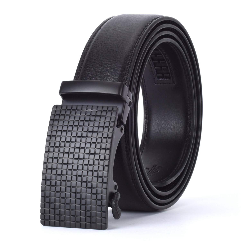 Men Automatic Buckle Leather luxury Belt Business Male Alloy buckle Belts for Men Ceinture Homme,J,110cm
