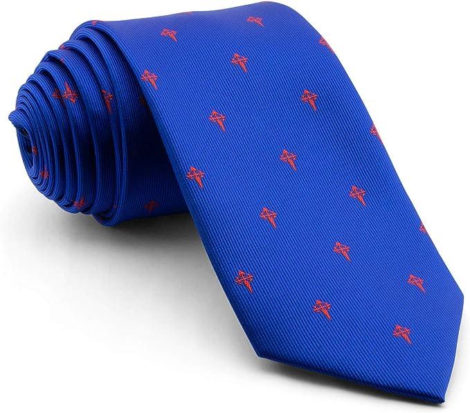 Cencibel Smart Casual Corbata Cruz de Santiago (Azul-Rojo): Amazon ...