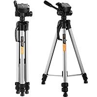 K&F Concept Treppiede Reflex Leggero da Viaggio Compatto Alluminio Testa a 3 Vie 168cm 3 Sezioni per Canon Nikon Sony DSLR Grigio