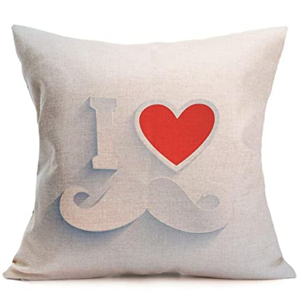 Sequins Pillow Cover Love Heart Throw Shell 18X18 For Christmas Year Valentine D