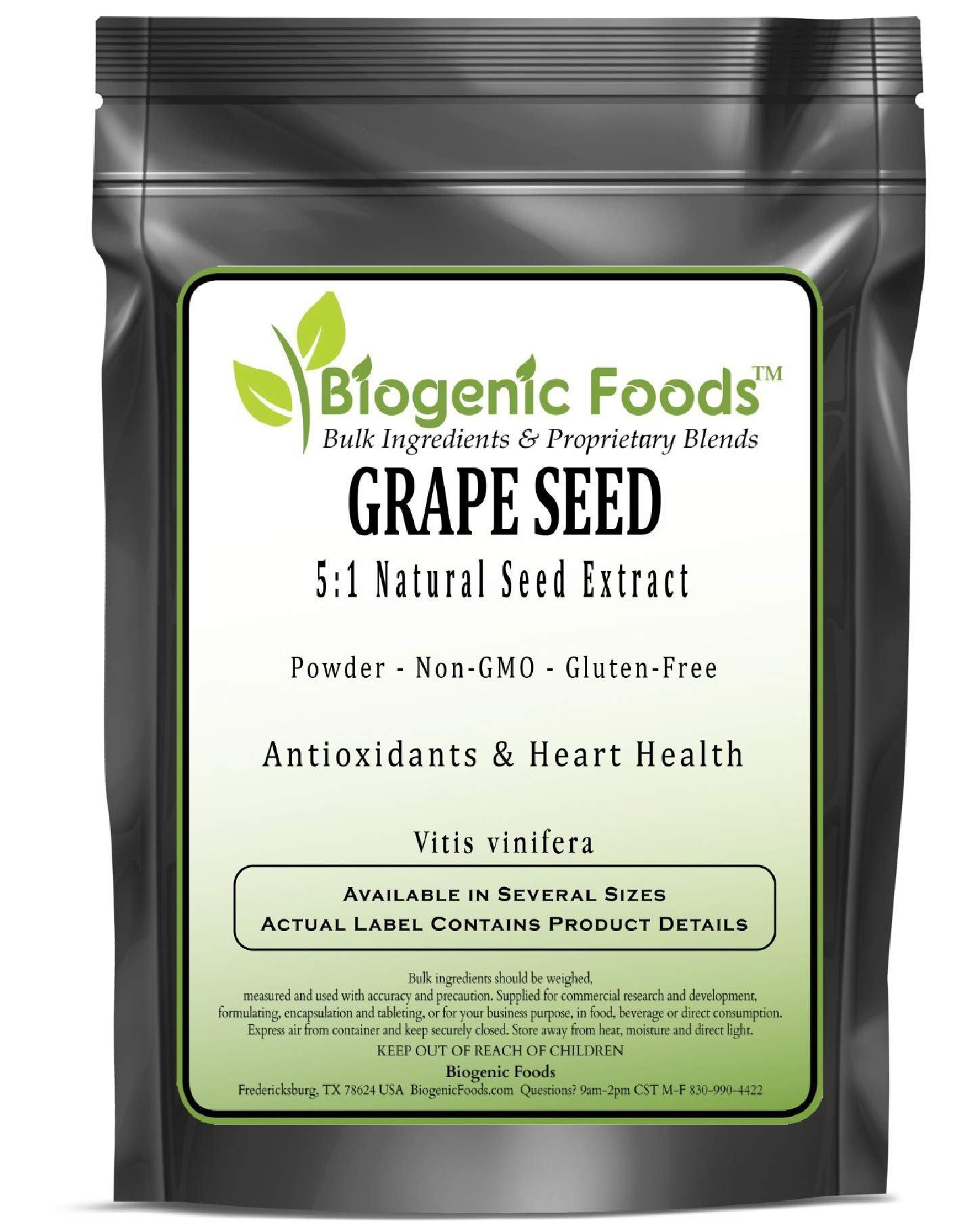 Grape Seed - 5:1 Natural Seed Powder Extract (VIT is vinifera), 2 kg