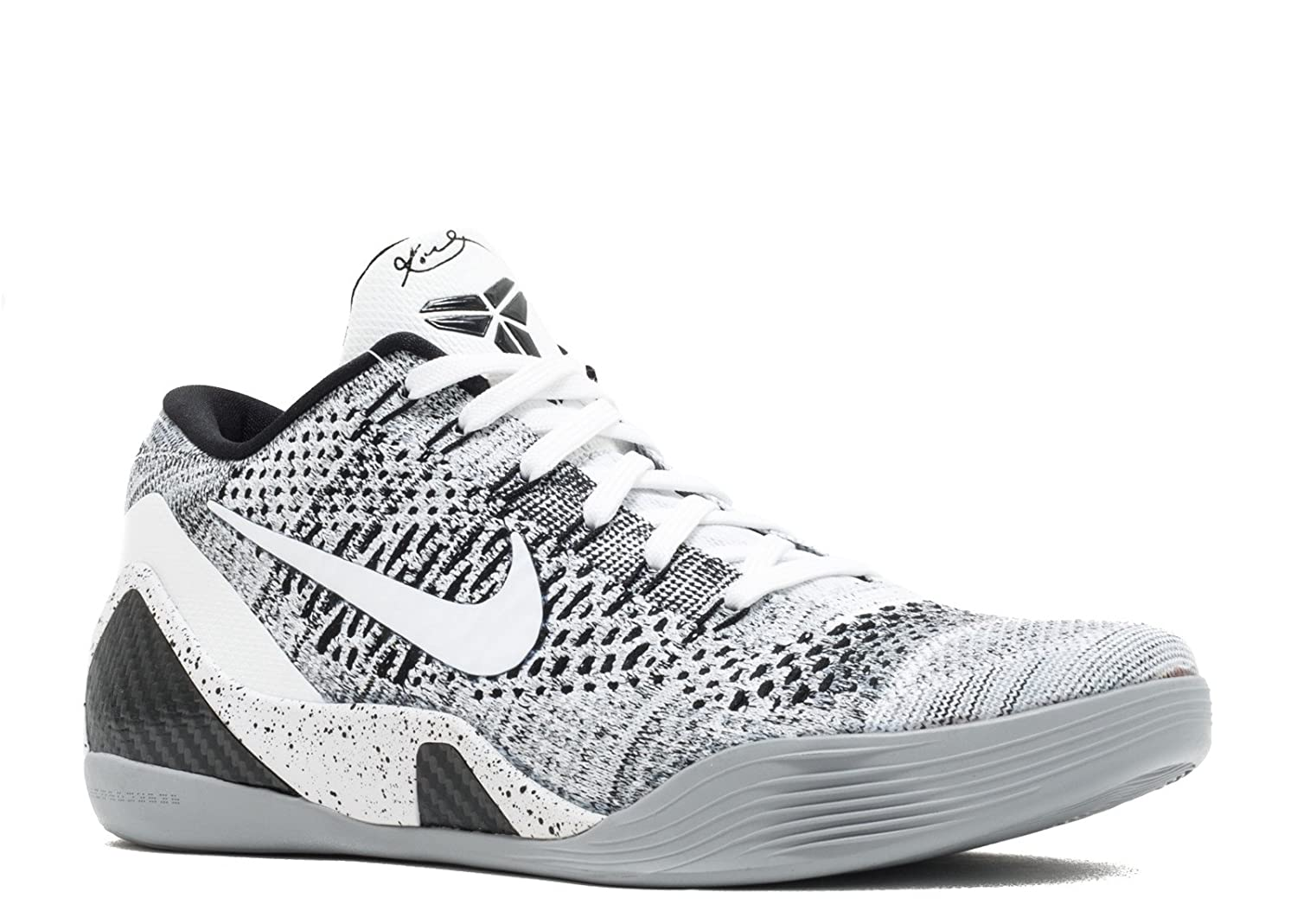 100% authentic 8c05d 9d5c5 Amazon.com   Nike Mens Kobe IX Elite Low Beethoven White Black-Wolf Grey  Synthetic Size   Shoes
