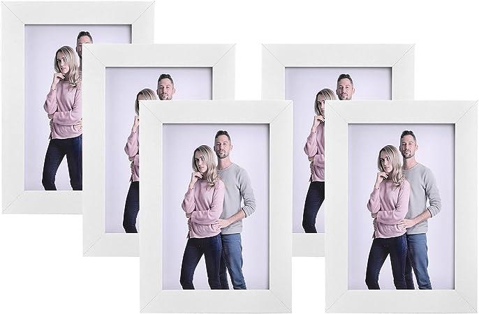 Shinsuke® Tom Bilderrahmen Set 5 Holz-Rahmen weiss in verschiedenen Grössen