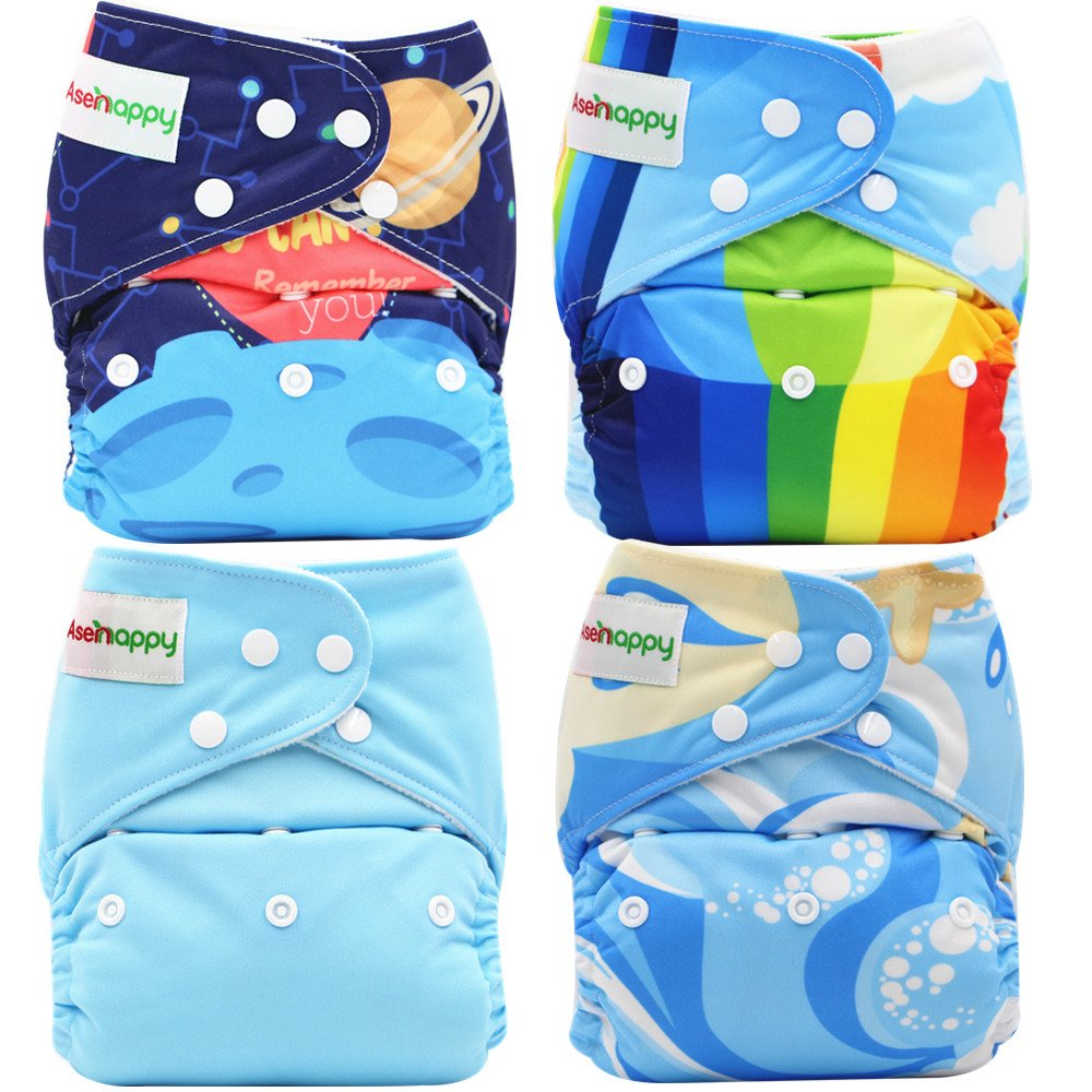 6pcs+6 Inserts+4pcs 4-layer Bamboo Inserts,Girl color 6FG27-CA Babygoal Baby Cloth Diapers,Reusable Washable Pocket Nappy