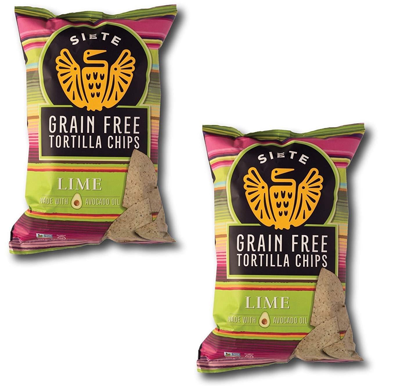 Siete Lime Grain Free Tortilla Chips, 5 oz bags, 2-Pack by Siete