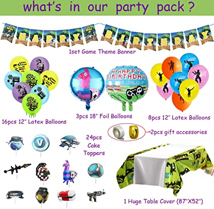 Pubg Game Party Supplies Supply Theme Novelty Event Gift Decoration Pack