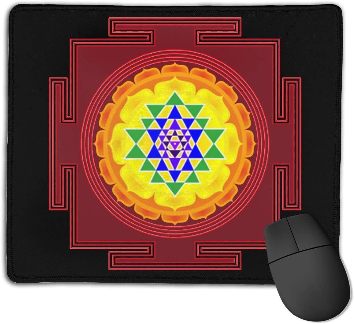 Lakshmi Ganesha Sri Yantra Mandala Mouse Pads Non-Slip Gaming Mouse Pad Mousepad for Working,Gaming and Other Entertainment