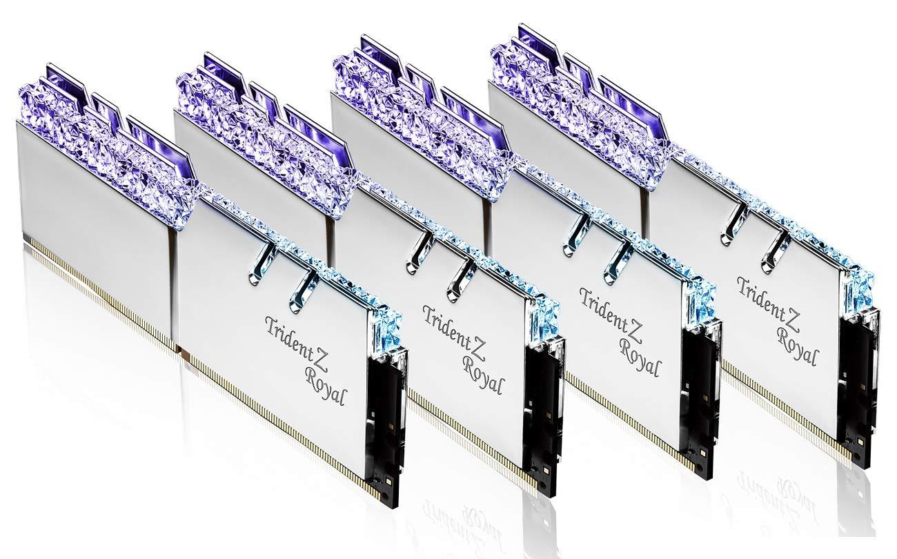 G Skill 32GB DDR4 Trident Z Royal Silver 3600Mhz PC4-28800 CL16 1 35V Quad  Channel Kit (4x8GB)