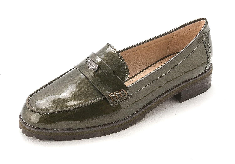 Coach Mocasines Peyton Pisos - Verde Metálico, 6.5 M US: Amazon.es: Zapatos y complementos