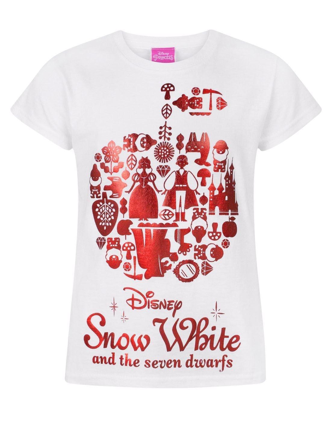 Disney Snow White Red Foil Girl's T-Shirt Fashion UK