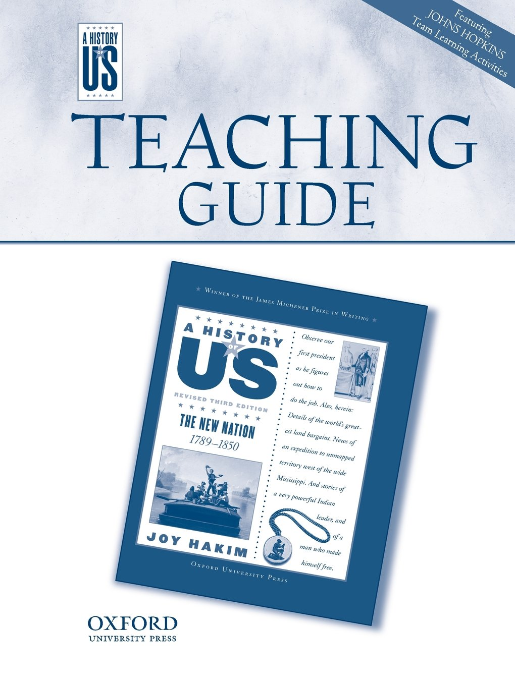 The New Nation Middle/High School Teaching Guide, A History of US: Teaching Guide pairs with A History of US: Book Four