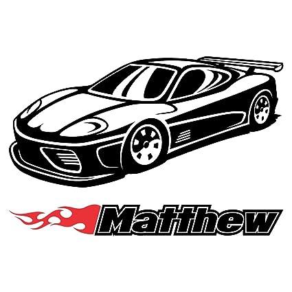 Amazon Com Car Classic Wheels Sport Racecar Custom Wall Room Name