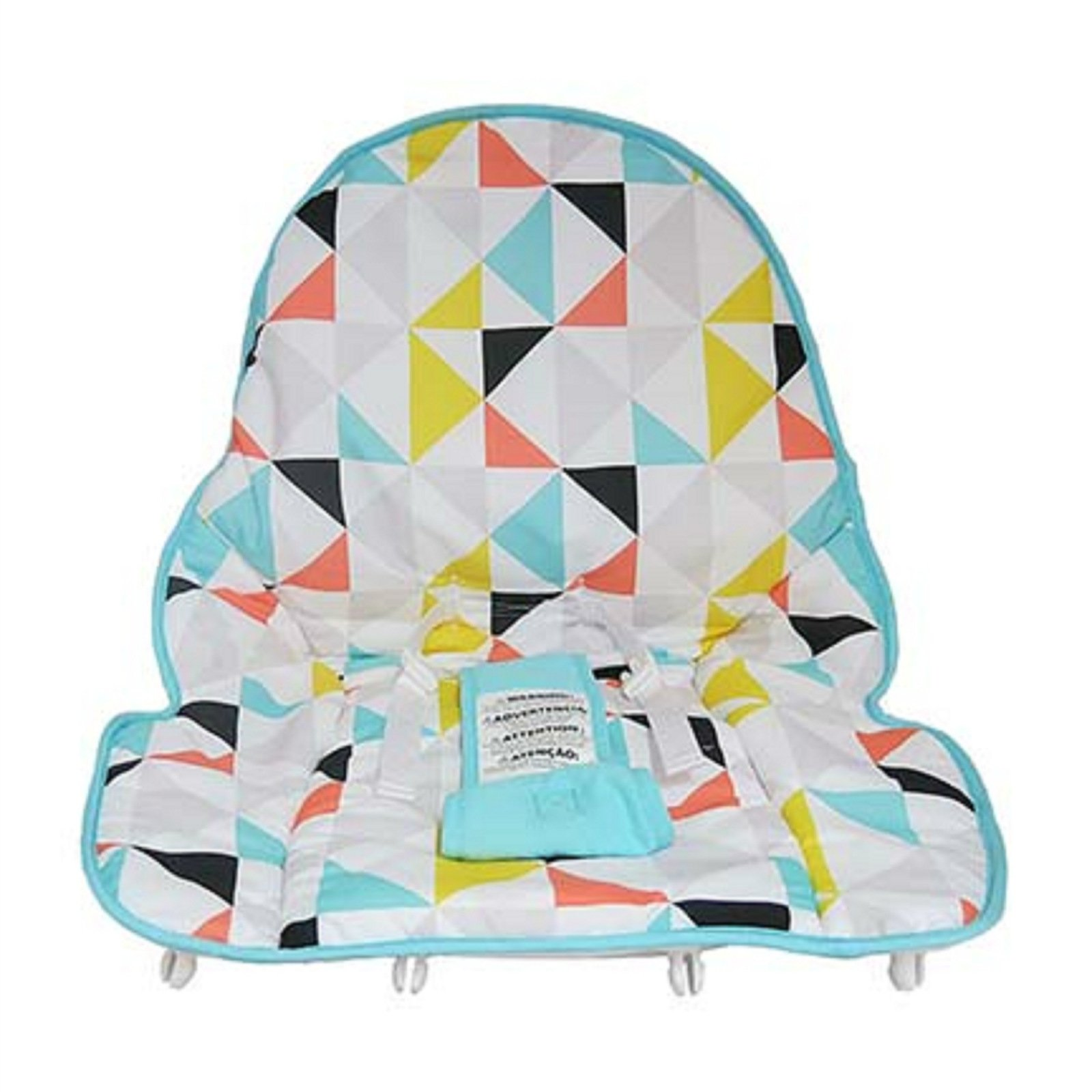 Fisher Price INFANT / NEWBORN TO TODDLER ROCKER Sleeper Replacement Seat Pad , FDP04 TRIANGLES MULTI PAD