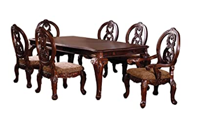 Amazon.com - Furniture of America Victoire 7-Piece French Style ...