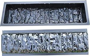Betonex 2pcs Edge Stone Concrete MOLDS Log Edging Border Mould ABS Plastic Concrete#BR05
