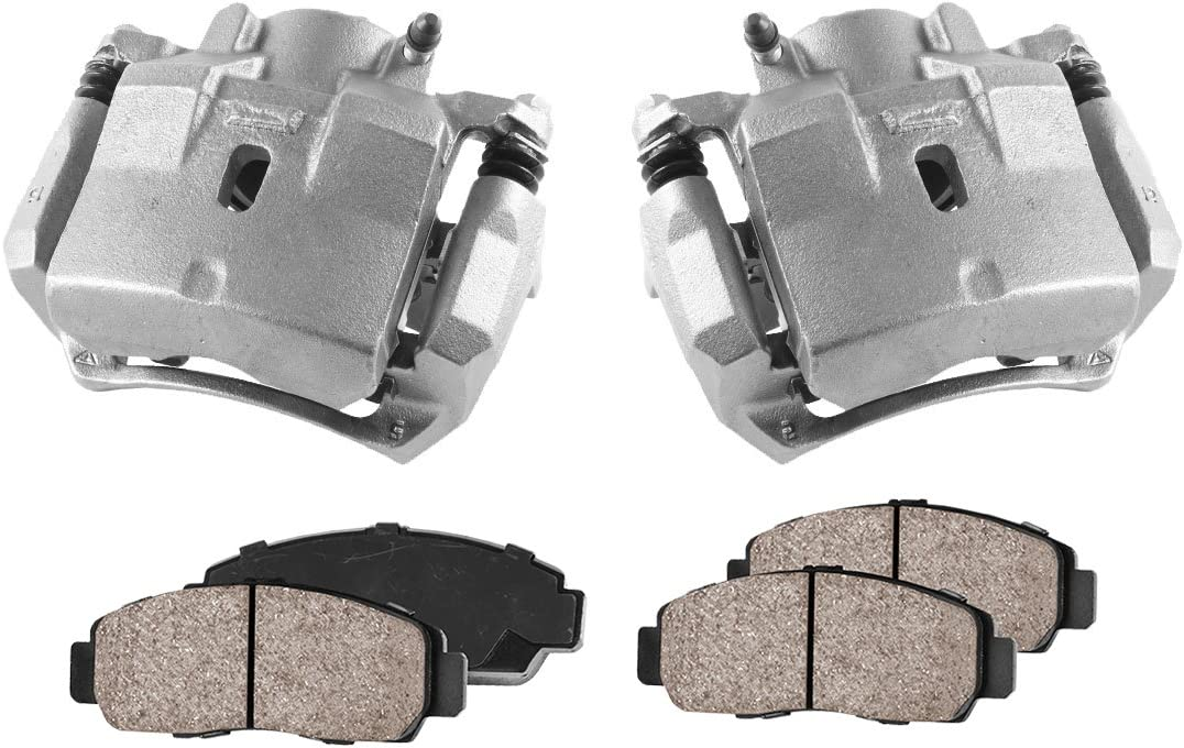 2 FRONT Premium Loaded OE Remanufactured Caliper Assembly Set Quiet Low Dust Ceramic Brake Pads S197 CCK01005
