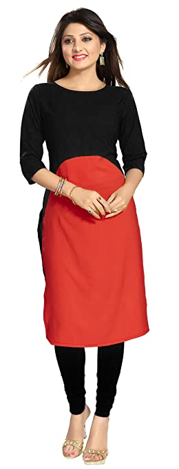 THE DRESSERY Women's Crepe Kurti Women's Kurtas & Kurtis at amazon