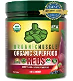 Certified Organic Superfood Reds Powder | Vital Reds Juice Supplement for Detox, Energy, Focus, Digestion, Metabolic…