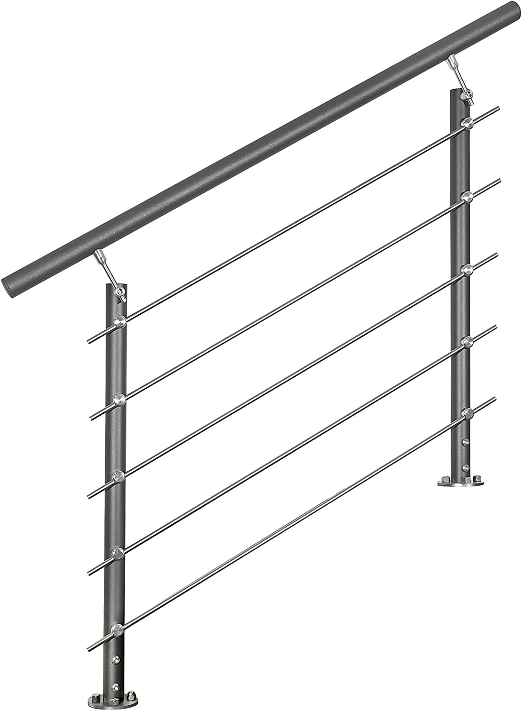 Gel/änder-Basis-Set in Aluminium anthrazit zur Bodenmontage mit /Überkletterschutz
