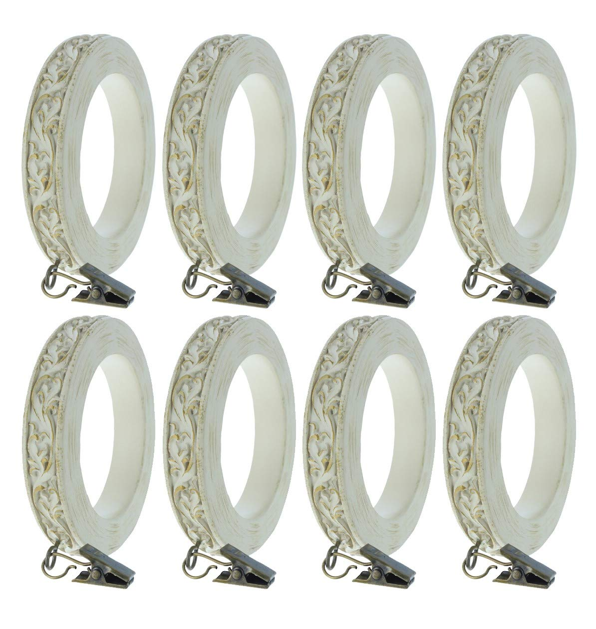 2 1//2-inch Inner Diameter Urbanest Set of 4 French Scroll Designer Curtain Rings Bronze with Gold