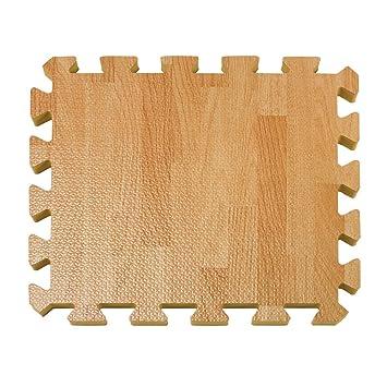 Amazoncom 26 Piece Wood Grain Foam Play Mat Natural Baby