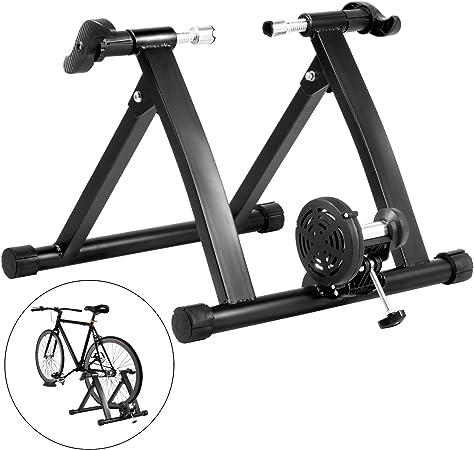 Tecmaqui Rodillos para Bicicleta 330LBS Entrenador para Bicicleta en Interior 750W Resistencia Fluida Soporte Portátil para Ejercicio de Bicicleta en ...