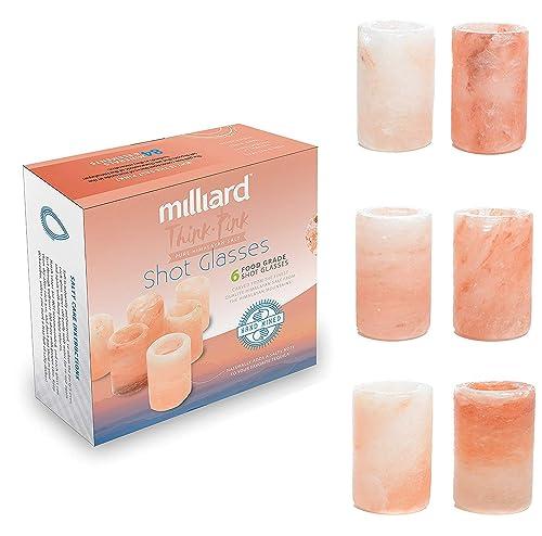 Milliard Premium Pink Himalayan Salt Shot Glasses (Set Of 6)