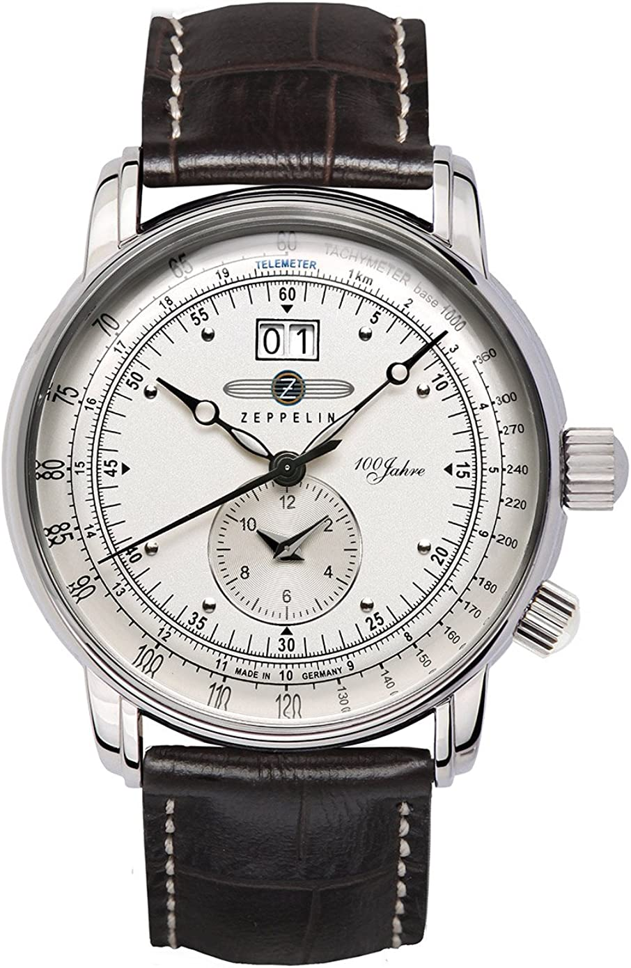 Zeppelin Reloj Analógico de Cuarzo para Hombre con Correa de Piel – 7640-1