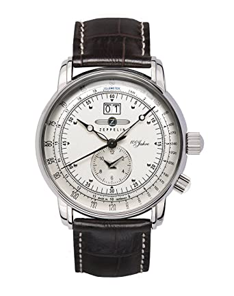 4456c5d8dfb Amazon.com  Graf Zeppelin Dual Time Big Date 100 Years of Zeppelin ...