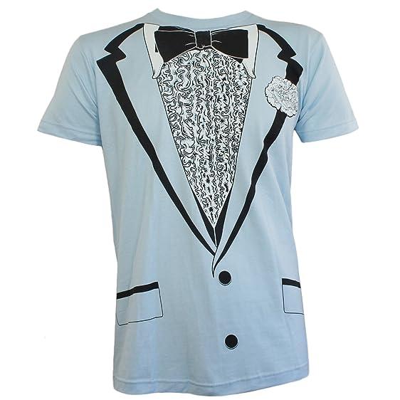 Amazon.com: IMPACT Tuxedo Blue Tux Bow Tie Retro Prom Costume Dumb ...