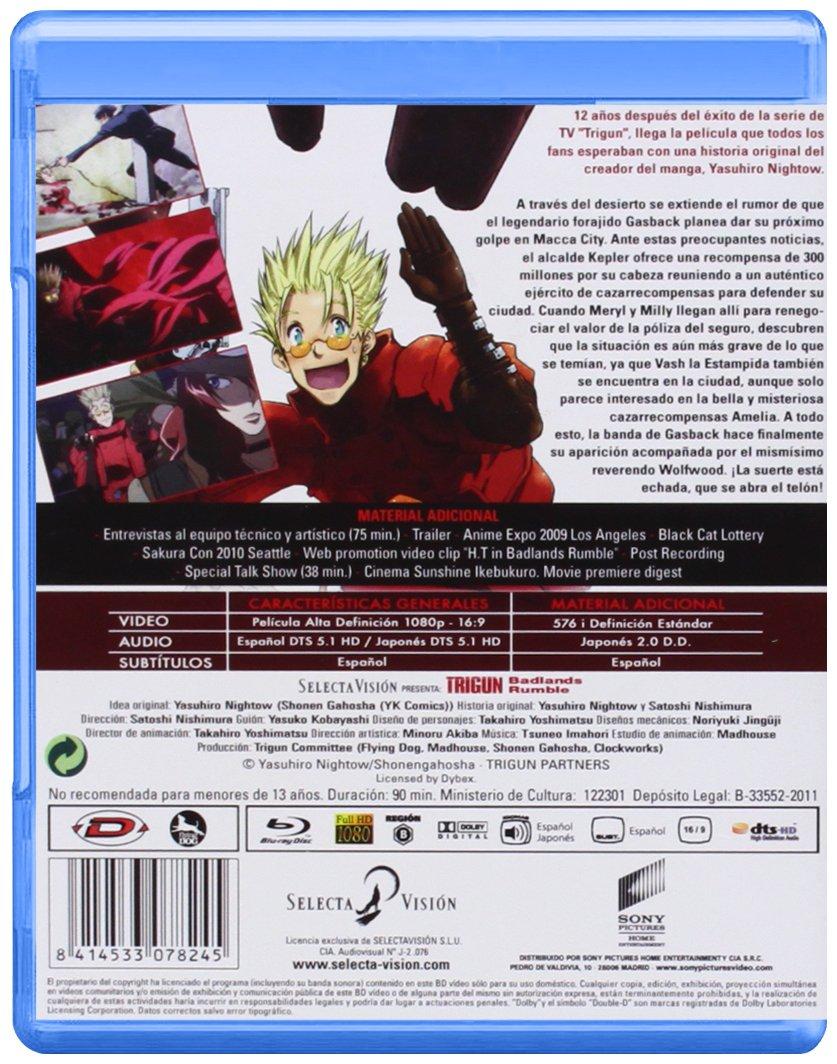 Trigun - La Pelicula Edi. Esp. - Cb [Blu-ray]: Amazon.es ...