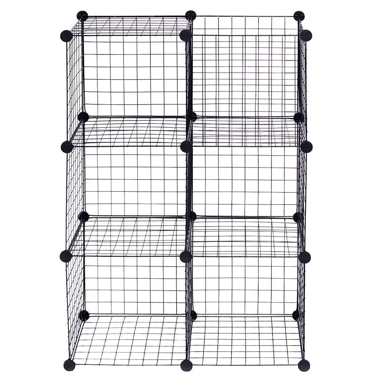 Floor 6 Cube Shelves Toys Unit Wire Storage Standing Kids Organizer