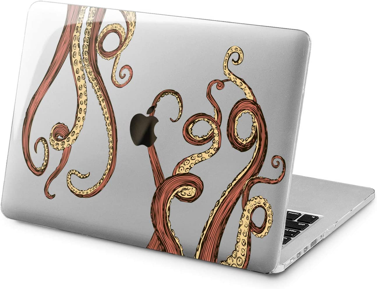 "Cavka Hard Shell Case for Apple MacBook Pro 13"" 2019 15"" 2018 Air 13"" 2020 Retina 2015 Mac 11"" Mac 12"" Laptop Print Plastic Cover Design Octopus Ocean Fun Tentacles Protective Animal Beautiful Cute"