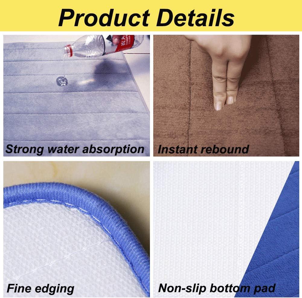 Simwood/™ Neue Absorbent Memory Foam Badematten Anti Rutsch Fu/ßmatten Badezimmer Teppiche