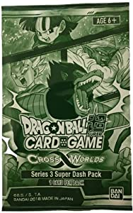 Dragon Ball Super Series 3 Cross Worlds TCG Dash Pack (1 card)