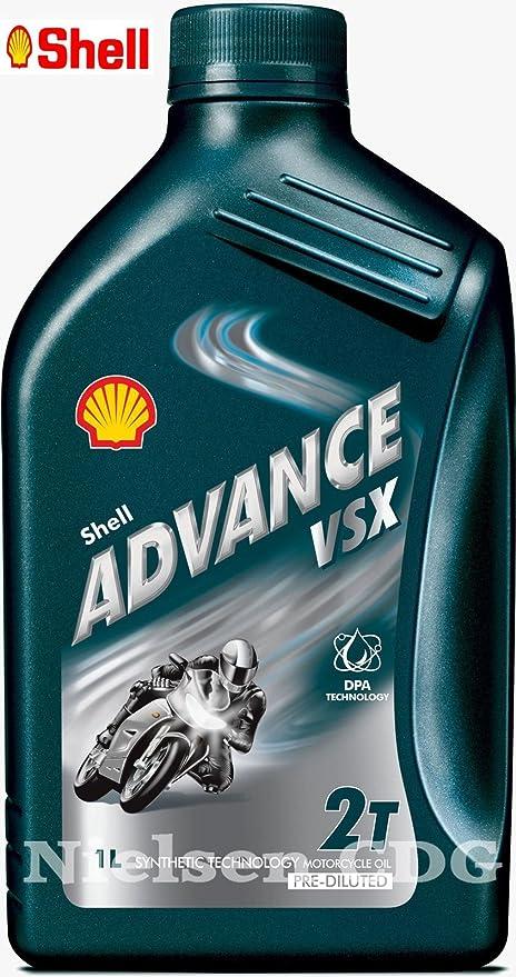 SHELL Advance VSX 2 - Aceite sintético para Motocicleta, 1 l ...