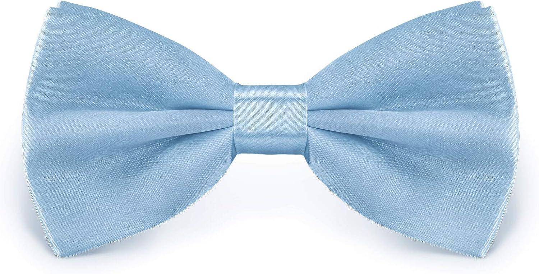 StickandShine hochwertige Satin Polyester Fliege Hellblau Gr/ö/ße verstellbar 12 cm
