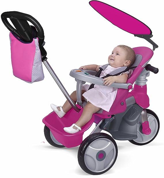 FEBER - Triciclo Baby Trike Easy Evolution, Color Rosa (Famosa 800009561): Amazon.es: Juguetes y juegos