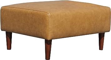 Les Ottomans Cuscini.Amazon Com Rivet Ava Mid Century Modern Leather Ottoman 25 6 W