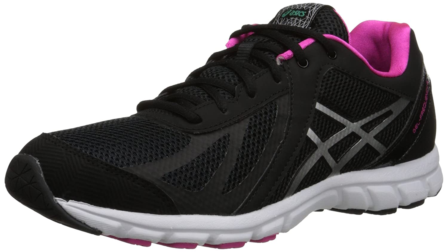 ASICS Women's Gel Frequency 3 Walking Shoe B00Q2K5XN6 6 D US|Black/Silver/Pink
