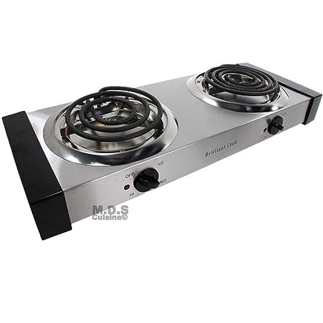 Electric cooktop Countertop Image Unavailable Amazoncom Amazoncom Electric Stove Double Burners Countertop Portable
