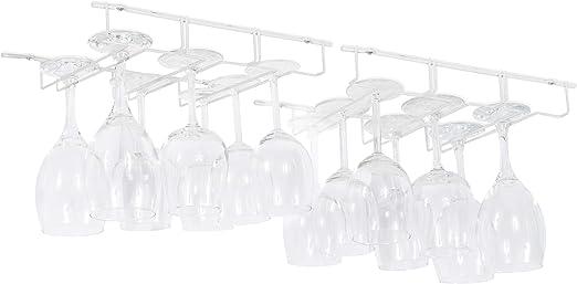 Wallniture Napa Stemware Wine Glass Hanger Rack Under Cabinet Kitchen Bar