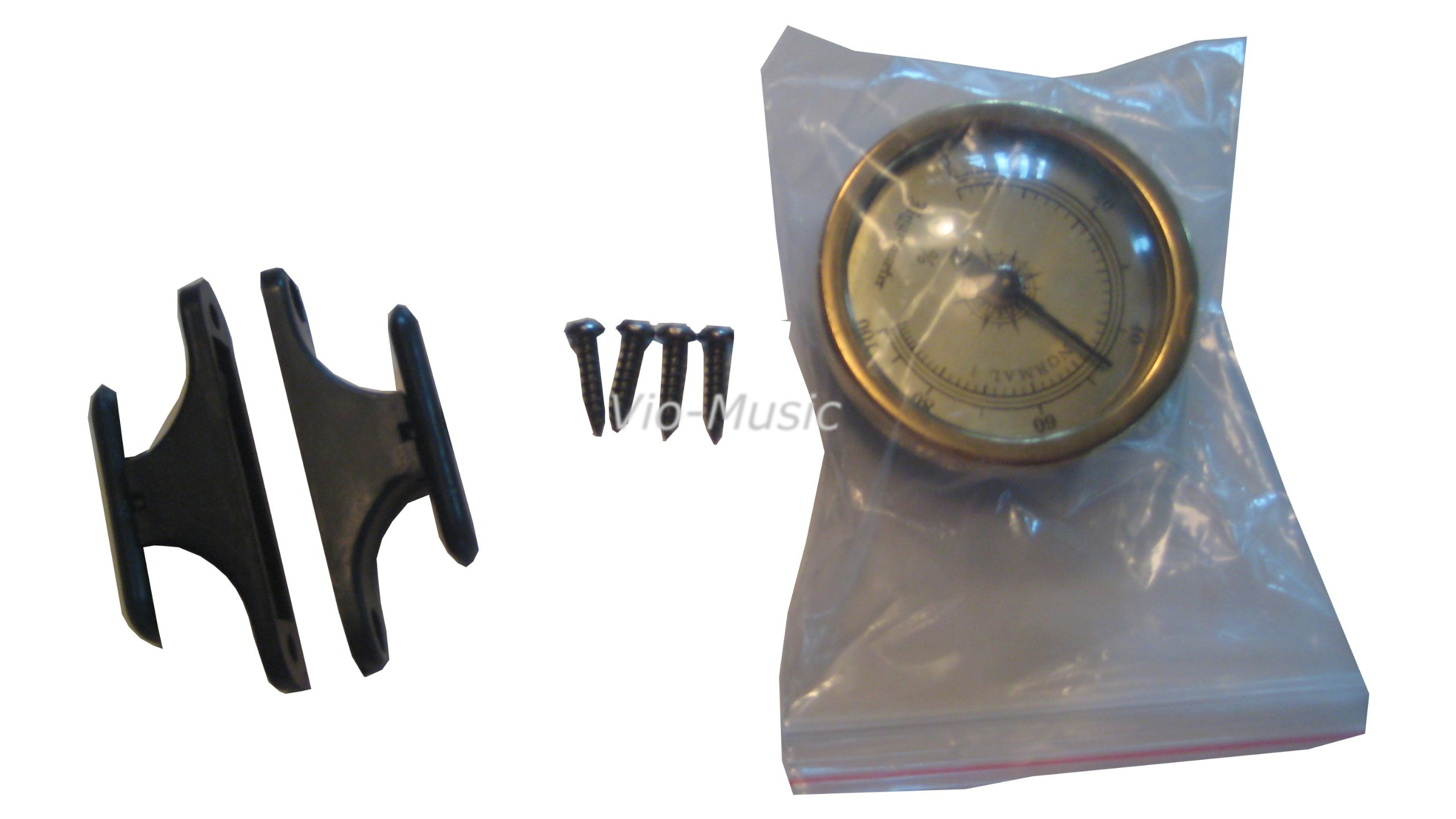 Hygrometer and Two Bow Holders & 4 Screws for Case