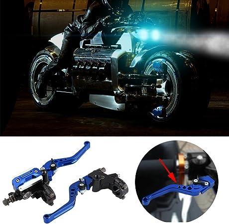 Universal Motorcycle Embrayage De Frein Ma/ître-Cylindre R/éservoir Leviers Golden 22mm Qiilu 1 Paire 7//8 \