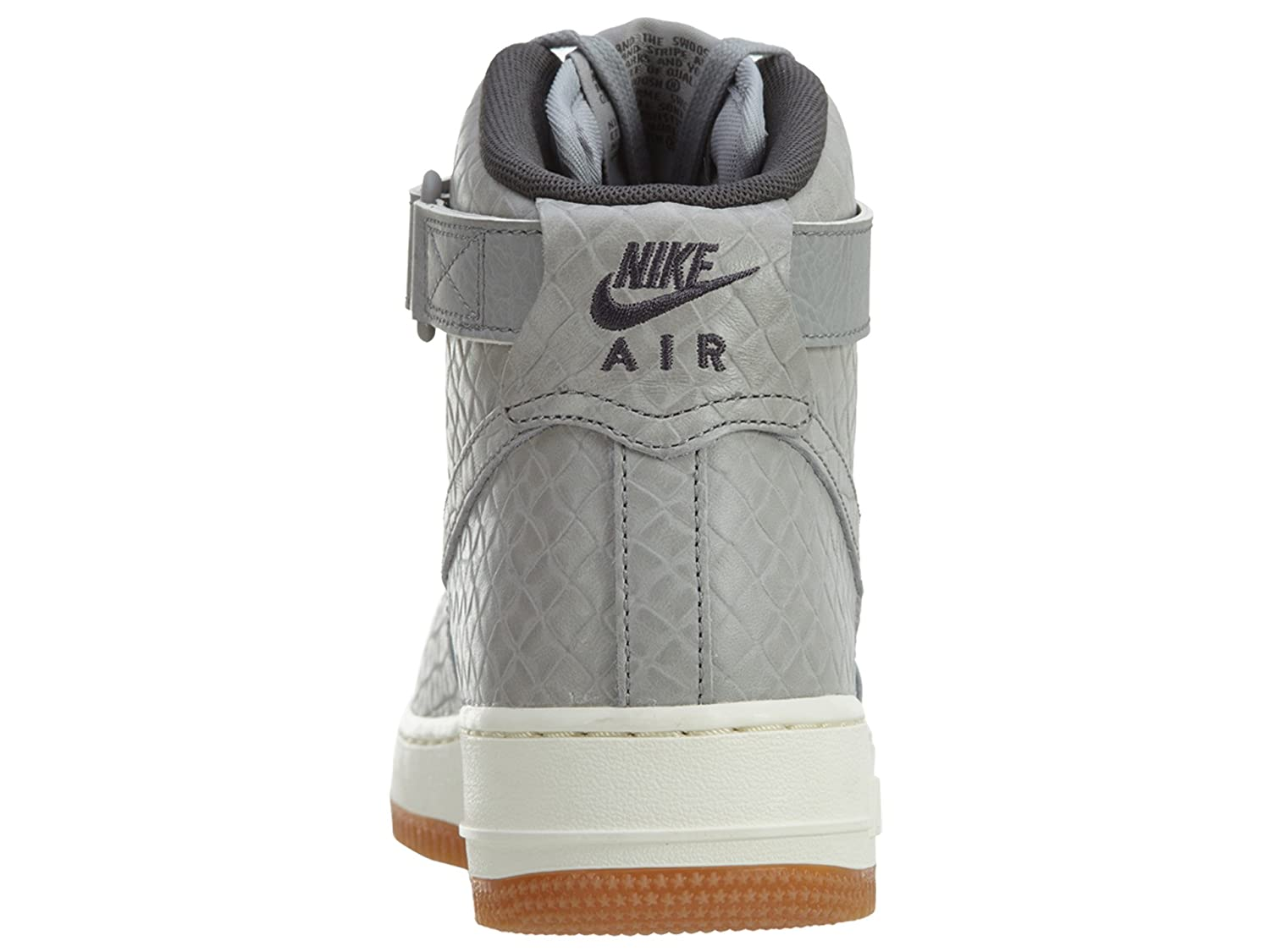 Nike Women's Air Force 1 Hi Premium Black/Black Gum Med Brown Sail Basketball Shoe B005A9BHIK 7 B(M) US|Wolf Grey / Wolf Grey