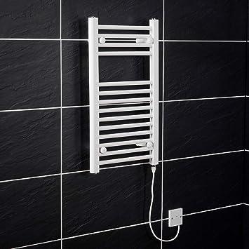 WarmeHaus Elektrischer Handtuchheizkörper, Elektro Badheizkörper 700x400  Weiß