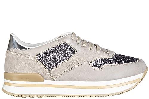 Hogan H222 Zapatillas de cuña ninos Beige 33 EU: Amazon.es: Zapatos y complementos