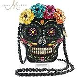 MARY FRANCES Dead of Night Embellished Sugar Skull Cross-body Handbag