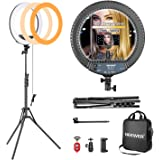 Neewer 14-inch Outer Dimmable LED Ring Light Kit Includes: 30W Bi-Color 3200K-5600K Small Ring Light, Light Stand, Soft Tube,